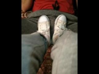 Trampling and ballbusting converse sneakers