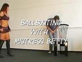 Killerkicks ballbusting in office with sadistic mistress betty