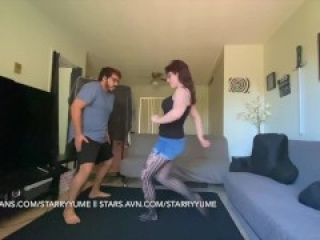 Behind-the-scenes Ballbusting Warm-up with Beasty (Free Full Length Video)