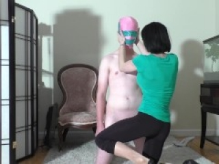 Ballbusting heels and barefoot kicks