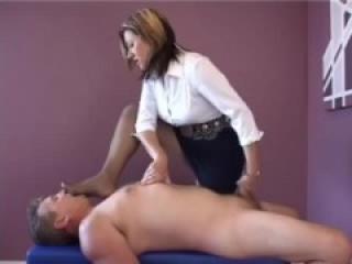 Femdom World-Cock Teasing Duo [CFNM Humiliation Footworship Handjob]