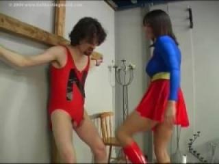 Superhero Ballbusting