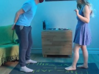 Tying up his hands to Bust his Balls | Amateur ballbusting couple kicks knees