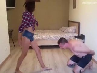 Cowgirl ballbusting