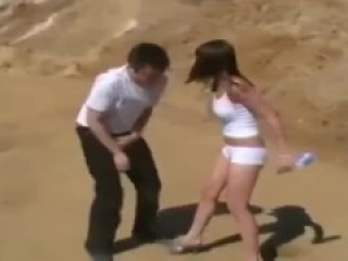 White Shorts Babe Ballbusting Part 1