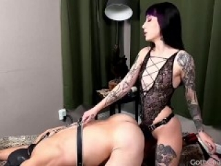 Released From Chastity For Pegging and Ballbusting