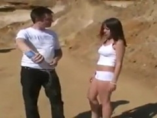 White Shorts Babe Ballbusting Part 2