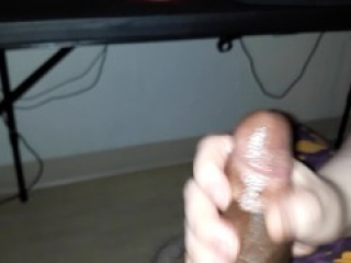 Punching my stepbrothers balls till he cums