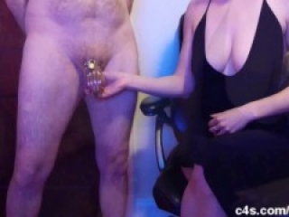 Blue Balls Chastity Experiment - Free Christmas Gift from Ballbusting Sam