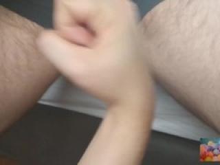TEASE TRAILER Puro bullbasting mientas uso sus bolas de punchingbag