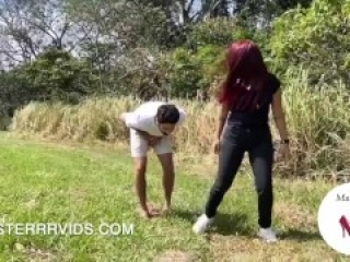 Juliana's First Time Ballbusting! (Preview)