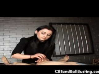 CBT Mistress teaches classic cock and ball torture