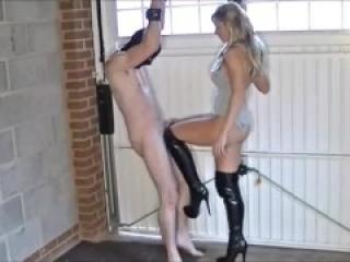 Elise ballbusting mistress Torture and