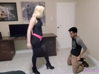 Ballbusting Teen Princess Sabrina High Heels Destruction