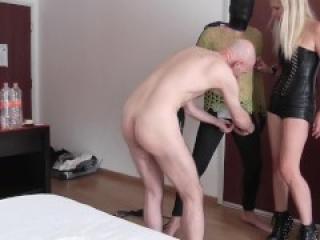 Ballbusting torture for cuck