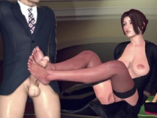 Lara Overpowers a Guard with Her Feet
