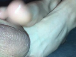 Amateur #footjob #87 hot footjob and ballbusting with mega cum on hand!