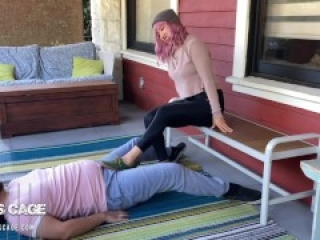 Lucy Stomps Her Shoes Clean - Ballbusting, Femdom, CBT PREVIEW