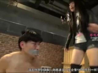 KKK-059 Japanese mistress boots ballbusting foot slave femdom 日本女王长靴踢裆调教脚奴隶