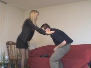 Victoria Office Ballbusting After The Promotion