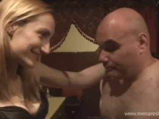 Savage ballbusting by mistress