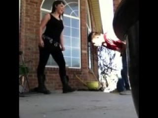 Hard Ballbusting by Goth Girl