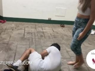 Cristina and Tamara Ballbusting in Leggings! (Preview)