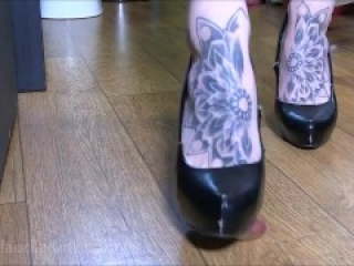 Trailer: Femdom Foot Job Ballbusting Accident