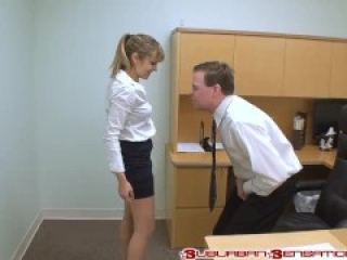 Jessica ballbusts her boss again