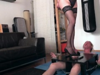 Balls Trampled into pancakes by Shemale Domme (right after the facebust&fuck in my previous video)