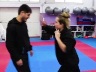 Krav Maga Ballbusting Self Defense Demo