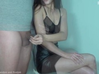 handjob with an unpleasant surprise at the end