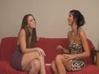 Jenni's Ballbusting Interview and First Ball Kicking