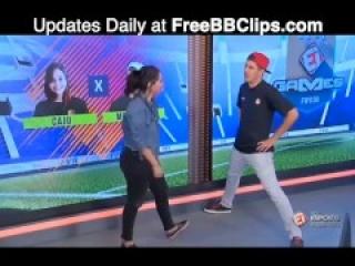 BRAZILIAN TV FULL KICK IN THE NUTS! - BALLBUSTING ball bust