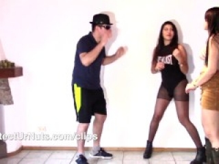 VALENTINA VS ROSIE BALLBUSTING COMPETITION - BALL BUST