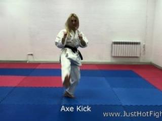 karate blond chic ballbusting
