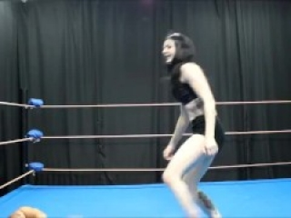 Real Ballbusting by a russian woman in a wrestling match. No fake hits. Decent punches and kicks.